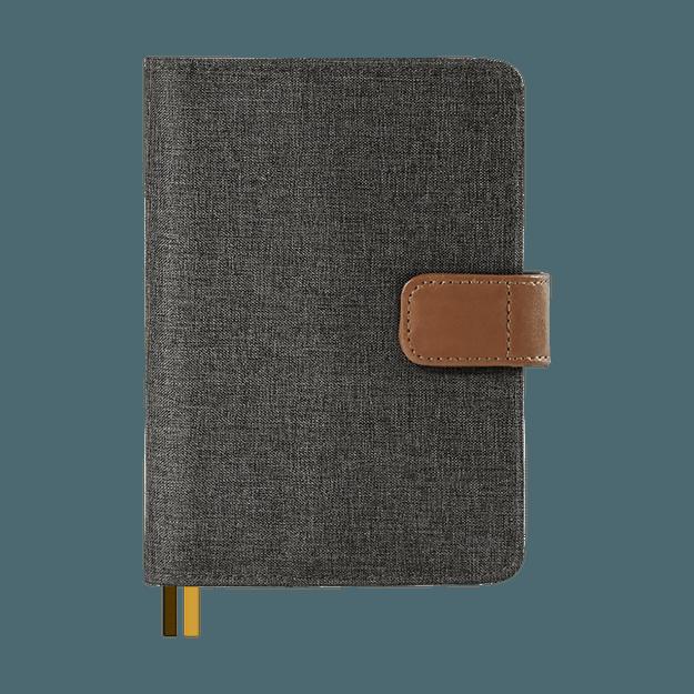 Product Detail - Calendar Planner Diary Stationery Notebook Handbook #A6 Handbook - Dark Grey - image  0