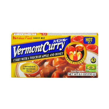 HOUSE FOODS Vermont Curry With A Touch Of Apple And Honey 230g Hot