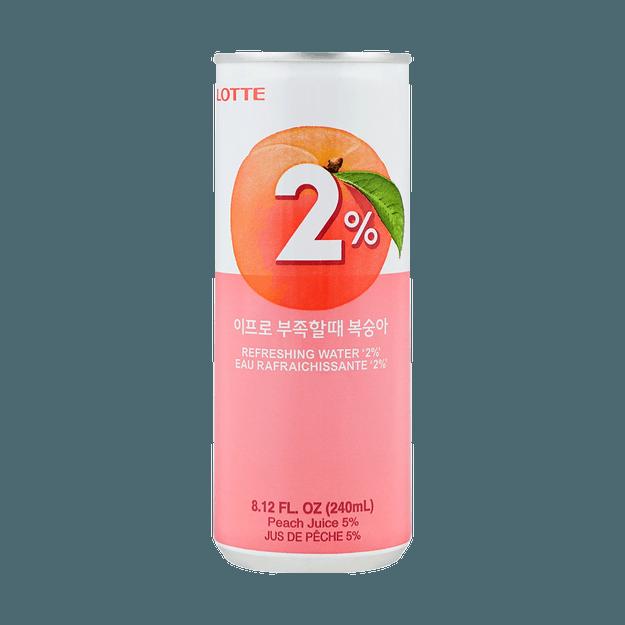 商品详情 - 韩国LOTTE乐天 2%富足水蜜桃果汁饮料 240ml - image  0