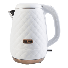 AROMA Double Wall 316 Premium Grade Stainless Steel Electric Water Kettle White 1.2L AWK-3000
