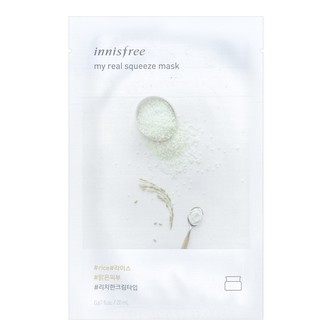 INNISFREE My real squeeze mask  Rice 1sheet
