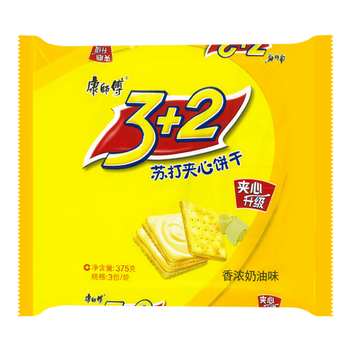 MASTER KONG 3+2 Soda Biscuit Cream 375g