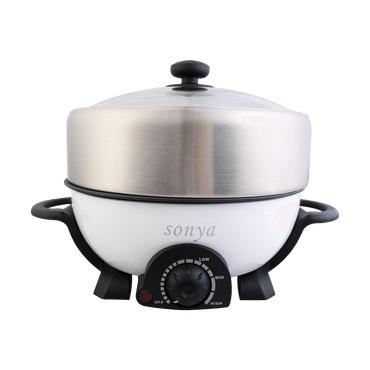 【Pre-order Shipped in 5~15 days】SONYA Multi Function Hot Pot With Nonstick Grill Pan 3L SYHP-1A