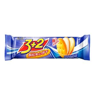 康师傅 3+2酥松夹心饼干 香草奶油味 118g