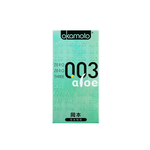 Product Detail - OKAMOTO 003mm Aloe Condoms 6pcs - image 0