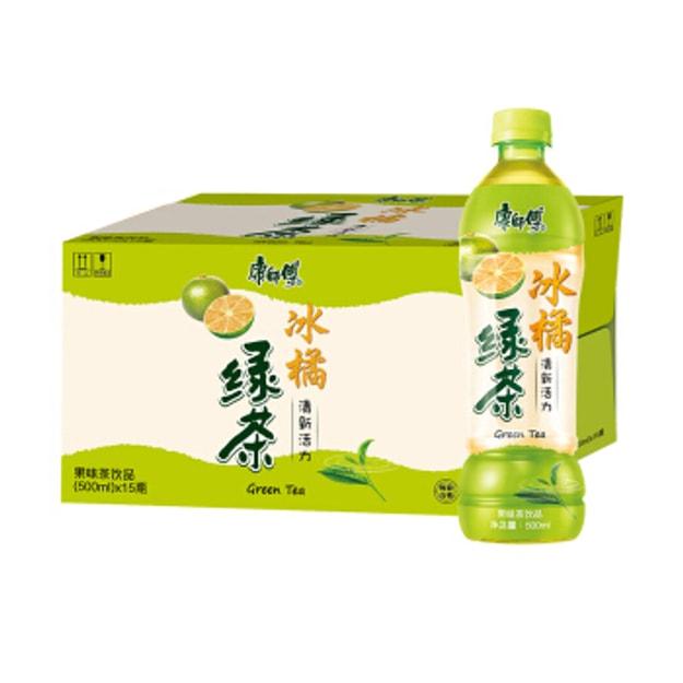 商品详情 - 康师傅 冰橘绿茶 1箱 15瓶 - image  0