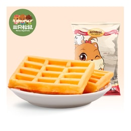 [China direct mail] three squirrels waffles 248g bag breakfast food casual snacks snacks Western-style pastries