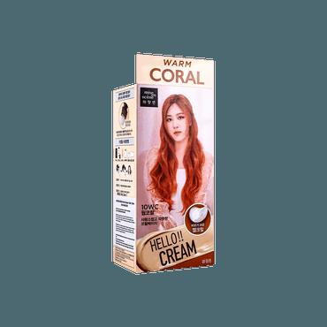 【2021新色】韩国MISE EN SCENE爱茉莉 美妆仙 HELLO CREAM 染发剂  10WC 暖橘色 单组入 白发可用