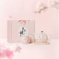网易严选日本美浓烧樱花茶具三件套 三件套礼盒装