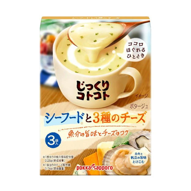 Product Detail - JAPAN POKKA SAPPORO Seafood Cheese Soup 3pc - image  0