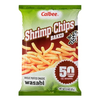 CALBEE Baked Wasabi Shrimp Flavored Chips 93g