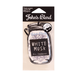 JOHN'S BLEND Hanging Car Fragrance Air Freshener White Musk 11g