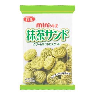 日本YBC山崎 抹茶夹心迷你小圆饼 60g