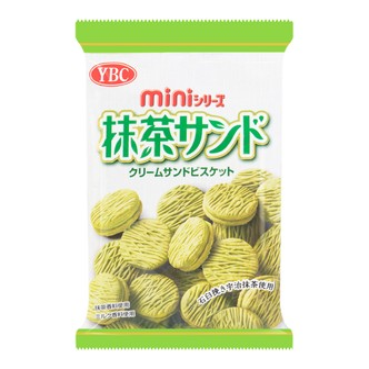 YBC Matcha Cream Sandwich Mini Biscuits 60g