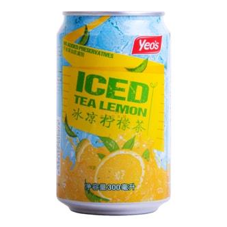 新加坡YEO'S杨协成 无添加冰凉柠檬茶饮料 罐装 300ml