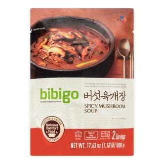 韩国CJ希杰 BIBIJO韩式辣菌菇汤 500g