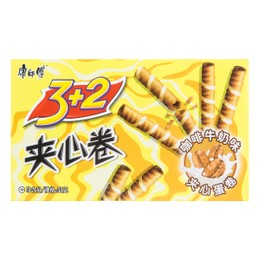 MASTER KONG 3+2 Wafer Rolls Milk Coffee Flavor 55g