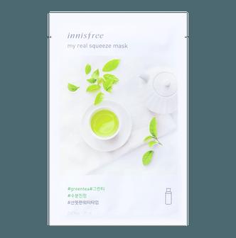 韩国INNISFREE悦诗风吟 悦享鲜萃绿茶面膜 单片入
