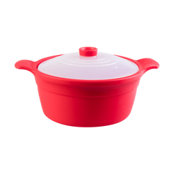 Korea Silicone Multi Steamer Rice & Soup Bowl Microwavable #Red 1.3L