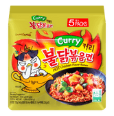 SAMYANG Korean Stir-Fried Hot Spicy Chicken Ramen Curry Flavor 5 bags 700g