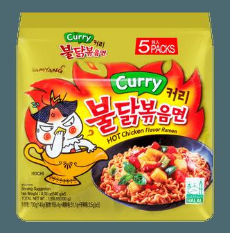 韩国SAMYANG三养 咖喱超辣鸡肉味拌面 5包入 700g
