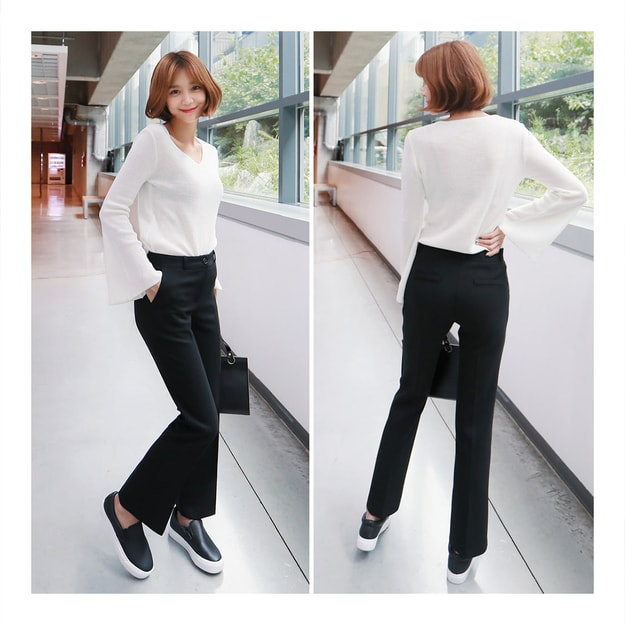 Product Detail - KOREA MAGZERO Slim Bootcut Dress Pants Black One Size(S/25-26) [Free Shipping] - image 0