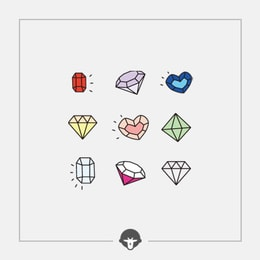 @BECOME Original Tattoo Stickers Diamonds Three Piece