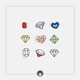 @BECOME Original Tattoo Stickers Diamonds Three Piece