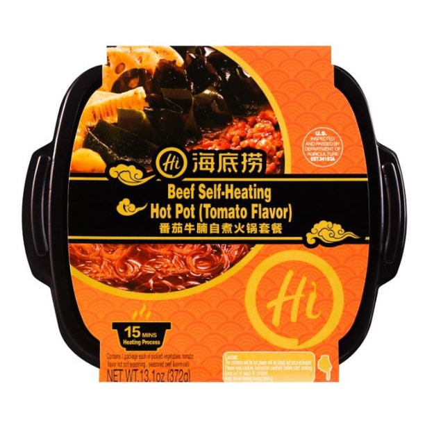 Product Detail - [US stock 3-5 business days] HDL Beef Self-Heating Hot Pot (Tomato Flavor) 372g - image 0