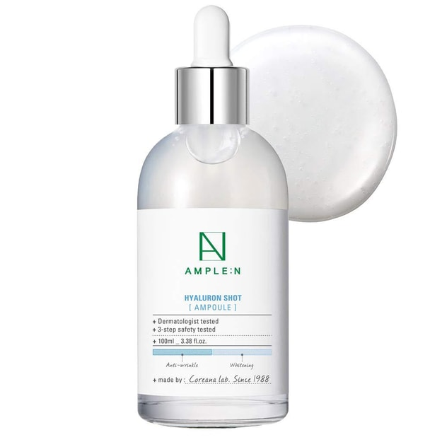Product Detail - AMPLE:N Hyaluron Shot Ampoule Hyaluronic Acid Powerful Hydrating Boosting Facial Serum 100ml - image  0