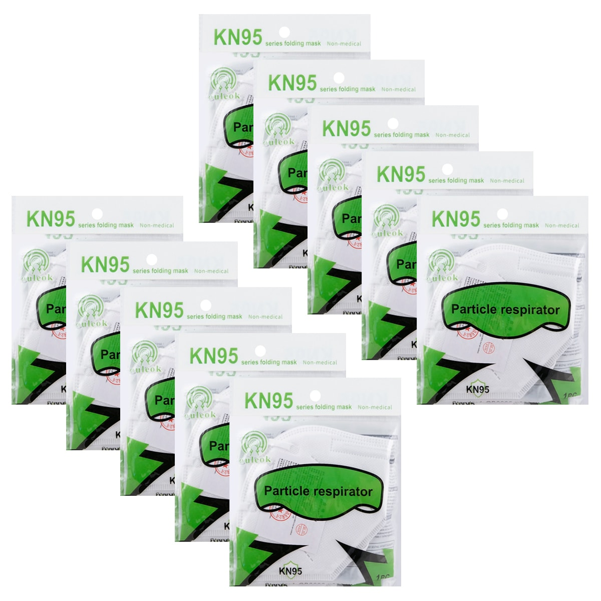 Yamibuy.com:Customer reviews:【KN95】KN95 Disposable Surgical Medical Face Mask 10piece Anti-bacterial≥95%