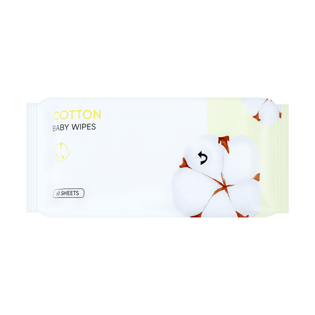 Product Detail - Miniso Cotton Series- Baby Wipes 60 Sheets - image 0