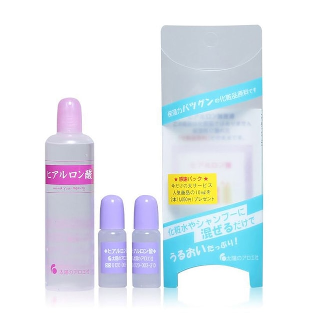 Product Detail - TAIYOUNOAROESHA Hyaluronic Acid 80ml × 1piece 10ml × 2pieces - image 0