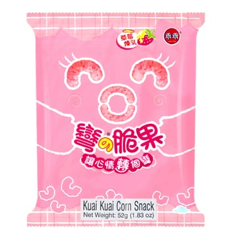 KWAN Corn Cracker -Strawberry Flavor 52g