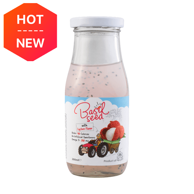 Product Detail - Mayan Basil Seed Fruit Drinks Lychee 280ml - image 0