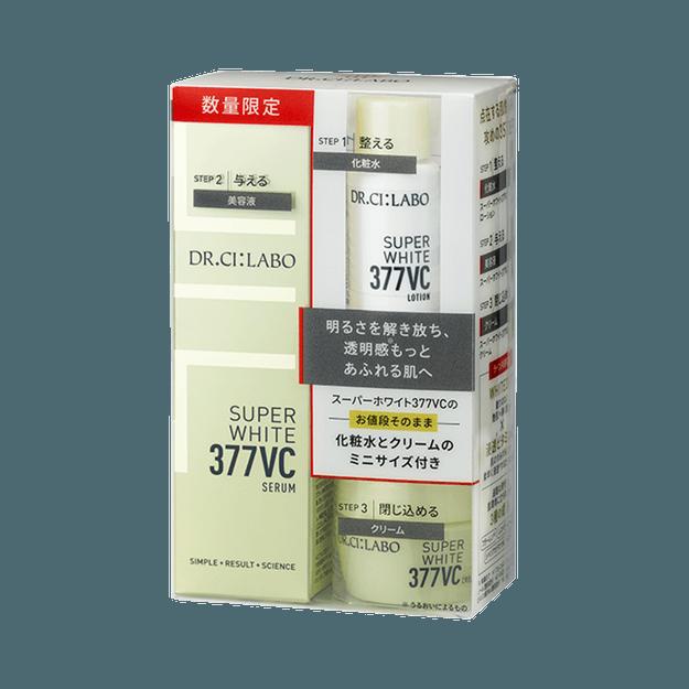 商品详情 - Dr.Ci:Labo 城野医生|| 377 VC焕白淡斑精华限定套装||1套 含美白淡斑精华18g+面霜9g+水8ml - image  0