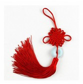 INK WASH Red Color Chinese Knot Car Mirror Hanging Decoration
