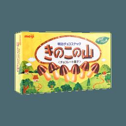 日本MEIJI明治 蘑菇力巧克力饼干 74g