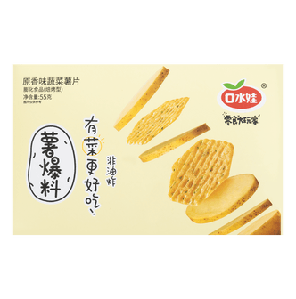 KOUSHUIWA Vegetable Potato Chips Original Smell Flavor 55g
