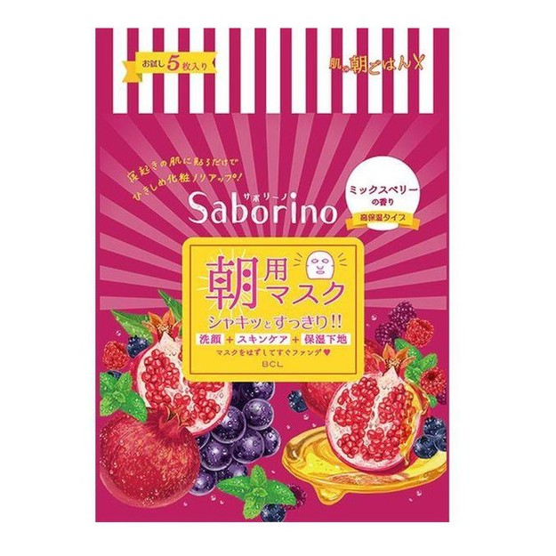 Product Detail - BCL Saborino Morning Care 3-in-1 Mix Berries Face Mask 5sheets - image 0