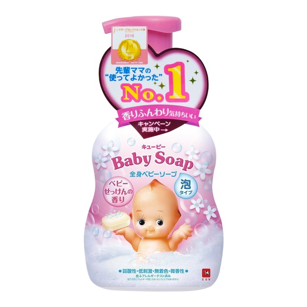 Product Detail - Kewpie COW Whole Body Foam Baby S Soap Scent 400ml - image 0