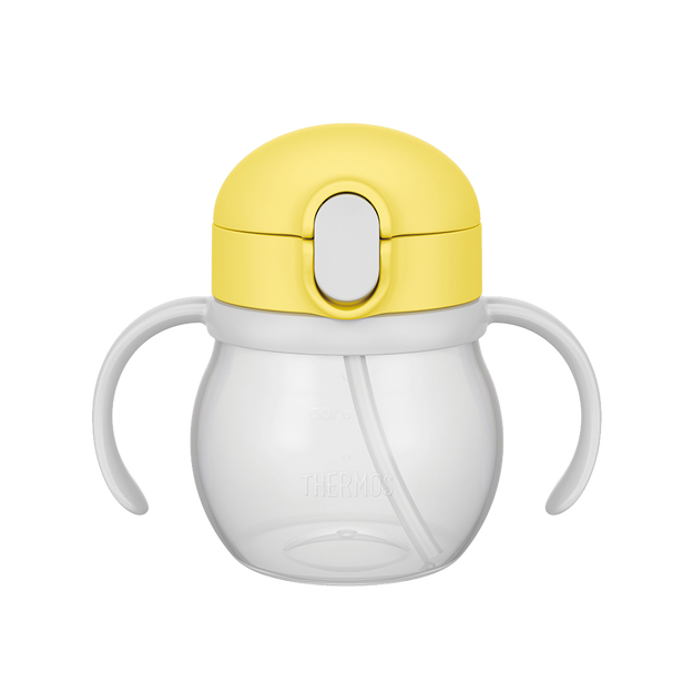 商品详情 - THERMOS 膳魔师||宝宝用双把手吸管水杯 NPF-250||柠檬黄 250ml - image  0