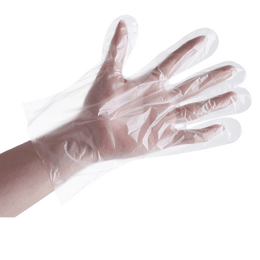 TIMESWOOD Disposable Gloves One-off Plastic Glove Clear Food Industrial Restaurant Cleaning Gloves 100 Pcs