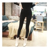 KOREA MAGZERO High Waist Stretch Denim Skinny Ankle Jeans Black L(27-28) [Free Shipping]