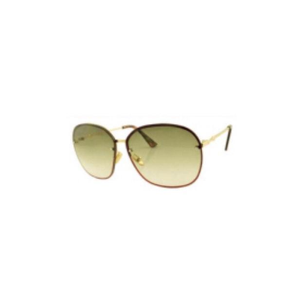 商品详情 - RETRO POP 时尚太阳镜 8107 金色镜框/绿色镜片 - image  0