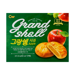 CW Korean Rice Cake Apple Flavored Cookie Pie 12pcs 234g