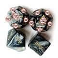 中国直邮 交悦 大理石纹雕刻骰子成人各类姿式英文调情用品 情趣4合1 黑色套装