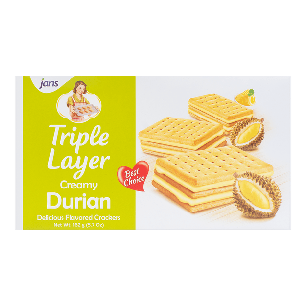 Product Detail - JANS Triple Layer Durian 162g - image 0