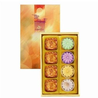 台湾ISABELLE伊莎贝尔 月之晓梦 港式+鲜果月饼 礼盒装 8枚入