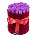漫花情书 酒红丝绒永生花花桶系列 收获(紫红色)